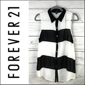 Forever 21 Tops - *3/$18*Forever 21 Sheer Color Block Tank Top
